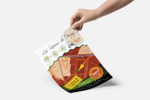 Jonathan Guérin - Graphiste freelance à Nantes. Création de flyer pour un food truck.