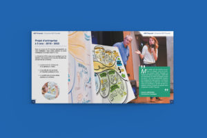 Création d'un rapport RSE de 68 pages - ADC Propreté - Facilitation graphique