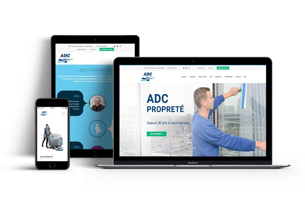 Création de site internet pour une entreprise de nettoyage à Nantes