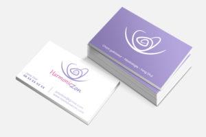 Création de cartes de visite professionnelles pour une activité feng shui