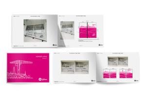 Création d'adhésifs pour vitres de bureaux dans une entreprise de nettoyage