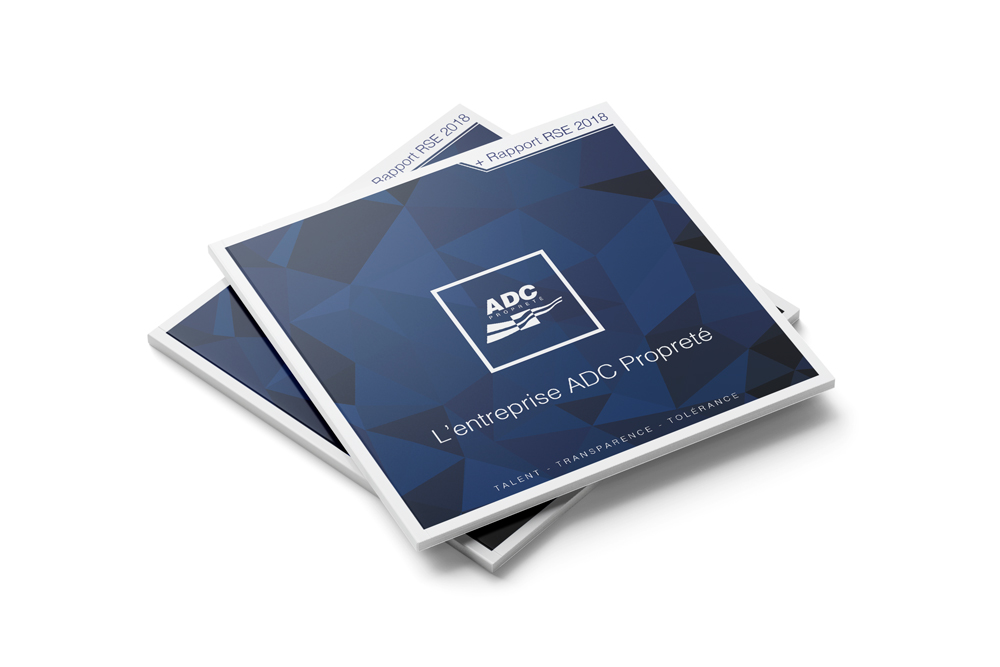 Création d'une rapport RSE de 68 pages pour ADC Propreté