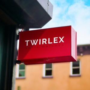 Recherche de nom de marque et création de logo pour la marque de montres suisse Twirlex