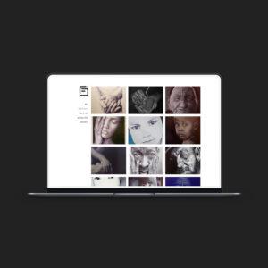 Création d'un site WordPress pour un illustrateur réalisant des portraits au crayon à bille