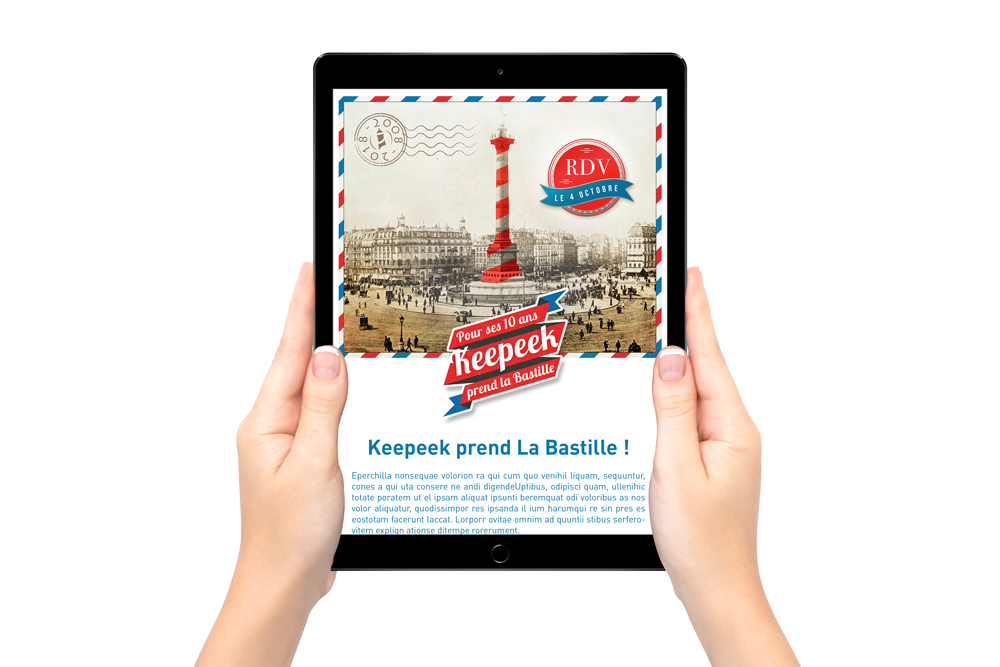Réalisation d'un photomontage pour un emailing - graphiste freelance - Nantes