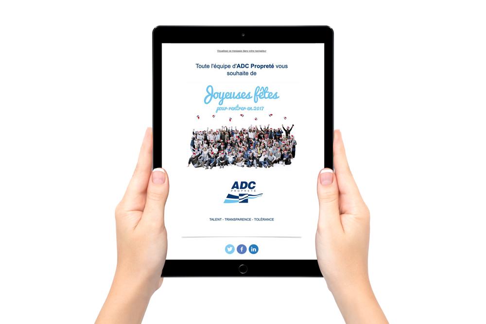 Création d'emailing à Nantes - Voeux de fin d'année