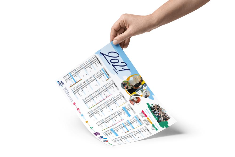 Création de calendriers à Nantes